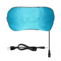 CkeyiN Sleep Mask for Both Men & Women Eye Masks Comfortable Eye Cover & Blindfold USB Heating in Dual-Layered Silk