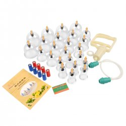 CkeyiN 24pcs Health Care Vacuum Cupping Cup Body Massage Relaxation Apparatus Vacuum Cupping Set