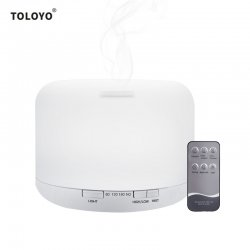 CkeyiN 3 in 1 500ml Mist Air Humidifier Essential Oil Aroma Diffuser Purifier for Household Office
