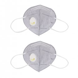 CkeyiN 2Pcs Non-woven Earloop Face Mouth Mask PM2.5 Anti Haze Dust Pollution Bacteria Respirator with Breathing Valve