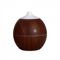 CkeyiN Portable 130ML Air Humidifier Essential Oil Diffuser with Color Changing Light