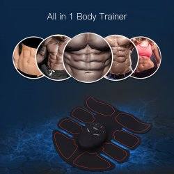 CkeyiN Abdominal Trainer Abs Stimulator Rechargeable Muscle Toner Wireless Muscle Toner for Women Men Fitness Equipment Electric Massager