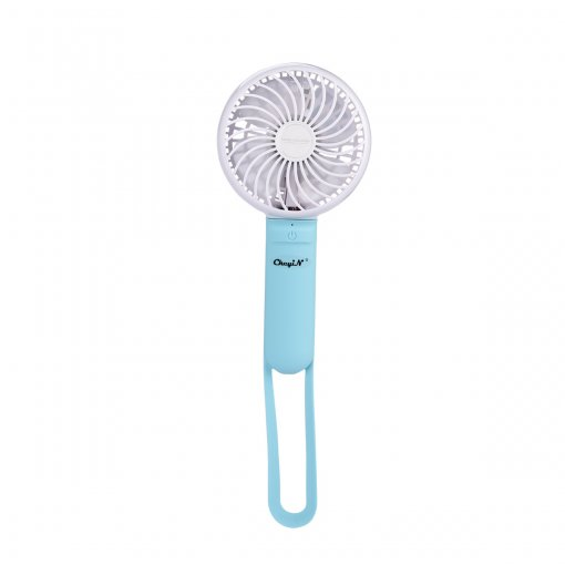 CkeyiN USB Rechargeable Handhold Desktop Mini Fan with 3 Files Wind Speed Outdoor Home Cooling Fan