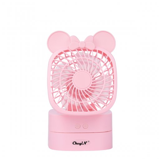 CkeyiN USB Rechargeable Desktop Rotatable Mini Fan with 2 Files Wind Speed Adjustable Head Foldable Cooling Fan