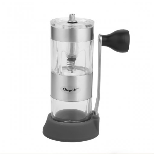 CkeyiN Manual Coffee Grinder with Ceramic Burrs Hand Coffee Mill in Acrylic