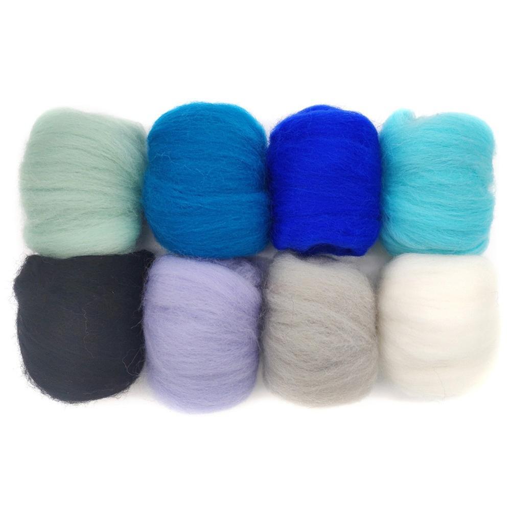 Needle Felting Felt Nature Wool Felting Roving Dyed Spinning Wet Fiber 10g