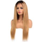 Ulovewigs Pre Plucked Human Virgin Hair 1b/27 straight wigs (ULW0027)