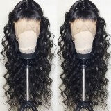 Ulovewigs Human Virgin Hair Loose Curl Pre Plucked Lace Front Wig  Free Shipping(ULW0024)