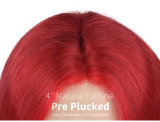 Ulovewigs Pre Plucked Human Virgin Hair red Color bob wigs Free Shipping(ULW0021)