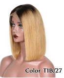 Ulovewigs Pre Plucked Human Virgin Hair 27 Color bob wigs  Free Shipping(ULW0022)