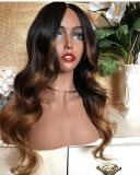 Ulovewigs Human Virgin Hair Ombre Wave Pre Plucked Lace Front Wig And Full Lace Wig For Black Woman Free Shipping (ULW0033)