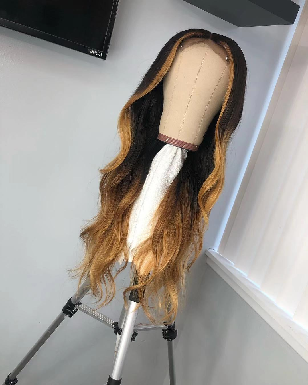 Ulovewigs Human Virgin Hair Ombre Wave Pre Plucked Lace Front Wig And Full Lace Wig For Black Woman Free Shipping (ULW0035)