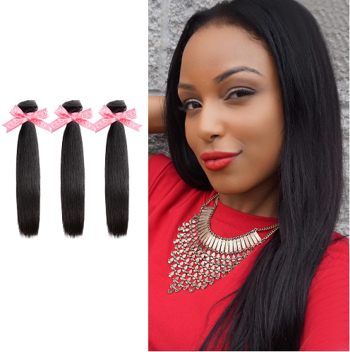 Ulovewigs 300% Density Pre Plucked Closure Wigs Made By Human Hair Bundles and Clousure(4*4) With Free Shipping (ULW0049)
