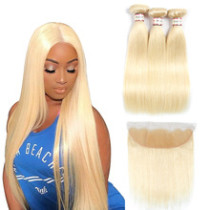 Ulovewigs 300% Density Pre Plucked Closure Wigs Made By Human Hair 613 Bundles and Frontal(13*4) With Free Shipping (ULW0053)