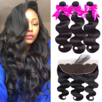 Ulovewigs 300% Density Pre Plucked Body Wave  Wigs Made By Human Hair Bundles and Frontal(13*4) With Free Shipping (ULW0055)