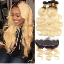 Ulovewigs 300% Density Pre Plucked 1b/613 Body Wave Wigs Made By Human Hair Bundles and Frontal(13*4) With Free Shipping (ULW0071)
