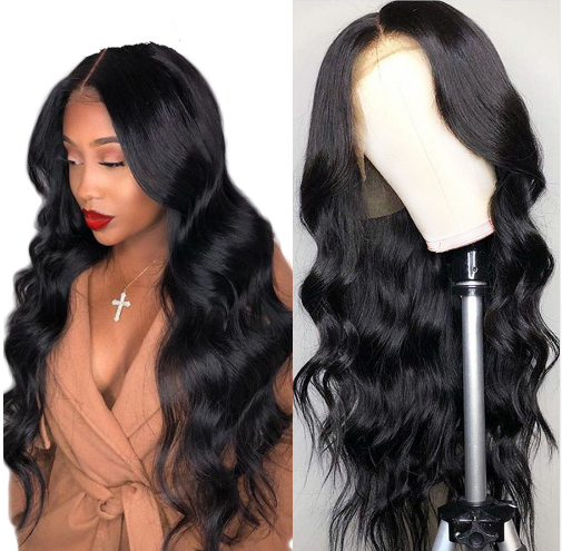 Ulovewigs Human Virgin Hair Pre Plucked Body Wave Lace Front Wig Free Shipping(ULW0072)