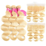 Ulovewigs 300% Density Pre Plucked 613 Body Wave Wigs Made By Human Hair Bundles and Frontal(13*4) With Free Shipping (ULW0057)