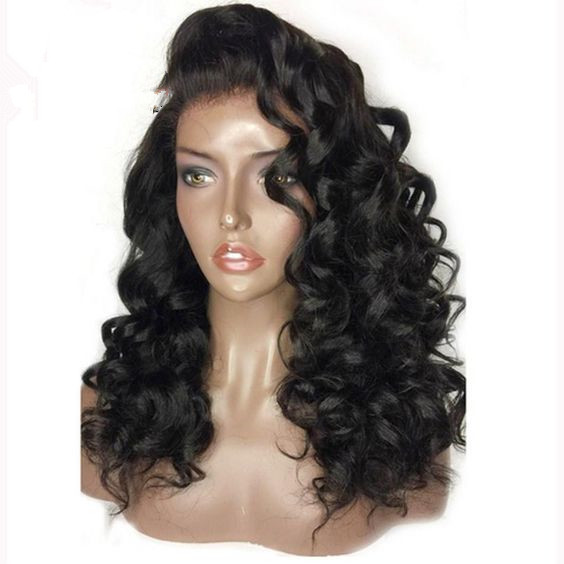 Ulovewigs Human Virgin Hair  Pre Plucked Lace Front Wig For Black Woman Free Shipping(ULW0073)