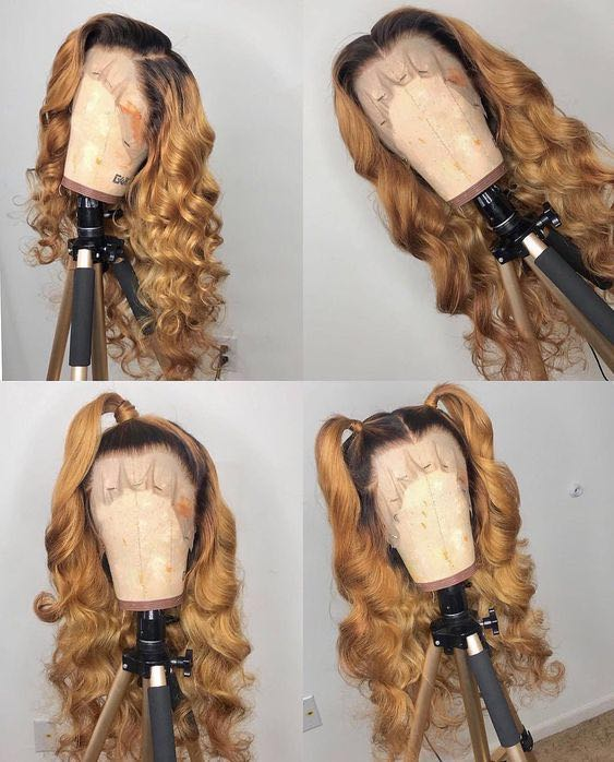 Ulovewigs Human Virgin Hair  Wave Pre Plucked 13*6Lace Front Wig  Free Shipping (ULW0076)