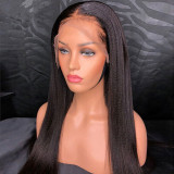 Ulovewigs Human Virgin Hair Yaki Straight Pre Plucked Lace Front Wig  Free Shipping (ULW0079)