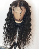 Ulovewigs Human Virgin Hair Wave Pre Plucked 13*6Lace Front Wig  Free Shipping (ULW0081)