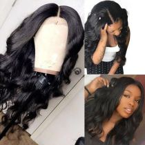 Ulovewigs Human Virgin Hair Wave Pre Plucked 13*6Lace Front Wig Free Shipping (ULW0082)