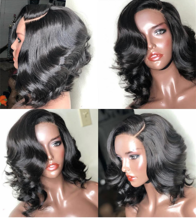 Ulovewigs Human Virgin Hair Pre Plucked Lace Front Wig For Black Woman Free Shipping(ULW0088)