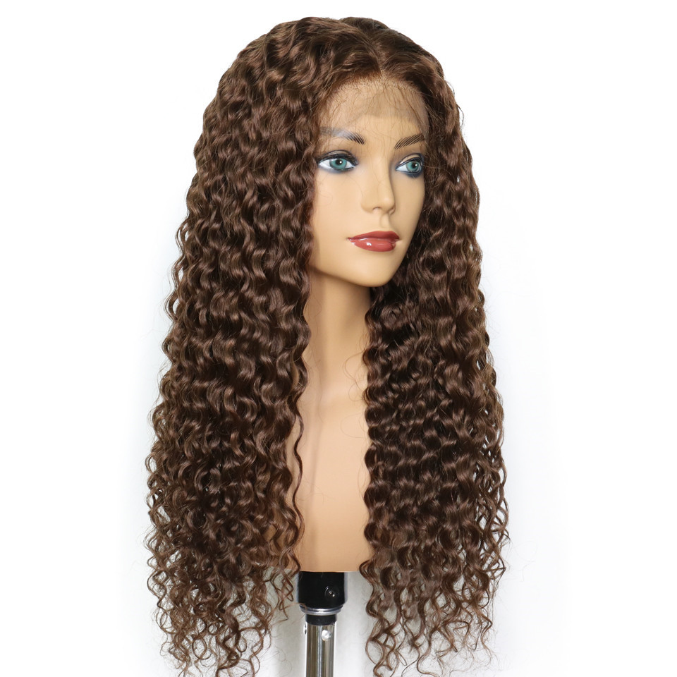 Ulovewigs Human Virgin Hair Wave Pre Plucked 4# Color Lace Front Wig And Full Lace Wig For Black Woman Free Shipping (ULW0090)