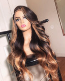 Ulovewigs Human Virgin Hair Wave Pre Plucked Lace Front Wig And Full Lace Wig For Black Woman Free Shipping (ULW0064)