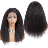 Ulovewigs Human Virgin Hair Kinky Straight Pre Plucked Lace Front Wig And Full Lace Wig For Black Woman Free Shipping (ULW0080)