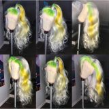 Ulovewigs Human Virgin Hair Wave Pre Plucked Lace Front Wig And Full Lace Wig  Free Shipping (ULW0062)