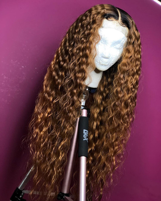 Ulovewigs Human Virgin Hair Wave Pre Plucked Lace Front Wig And Full Lace Wig For Black Woman Free Shipping (ULW0060)