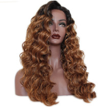 Ulovewigs Human Virgin Hair Pre Plucked Lace Front Wig For Black Woman Free Shipping(ULW0069)