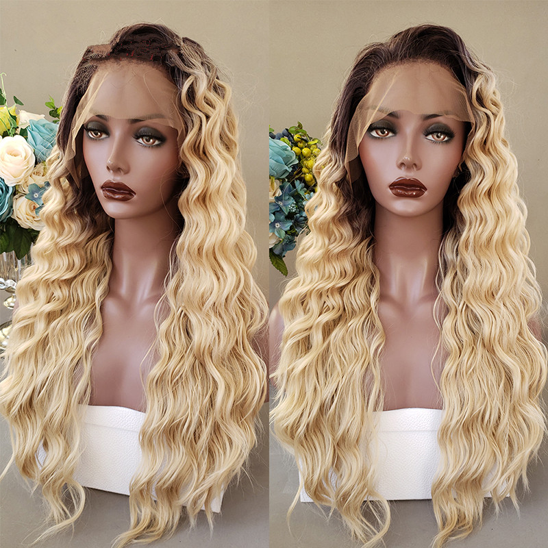 Ulovewigs Human Virgin Hair 4/613  Pre Plucked Lace Front Wig For Black Woman Free Shipping(ULW0068)