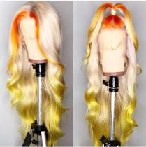 Ulovewigs Human Virgin Hair Ombre Honey Blonde Pre Plucked Lace Front Wig  Free Shipping(ULW0100)