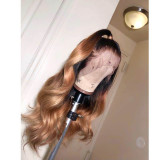 Ulovewigs Human Virgin Hair Ombre Honey Blonde Pre Plucked Lace Front Wig And Full Lace Wig For Black Woman Free Shipping (ULW0093)