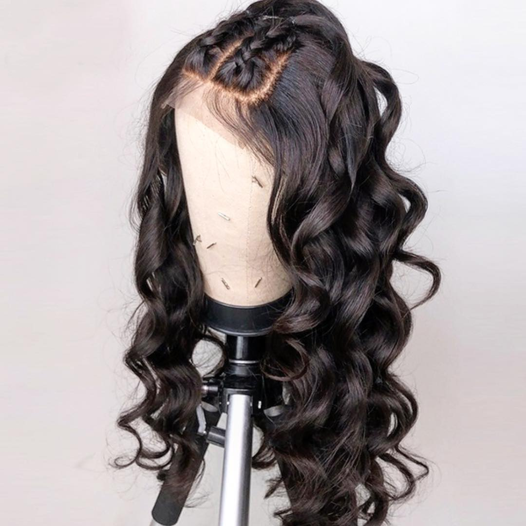 Ulovewigs Human Virgin Hair  Pre Plucked Lace Front Wig  Free Shipping (ULW0094)