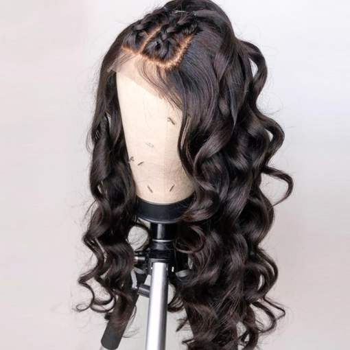 Ulovewigs Human Virgin Hair  Pre Plucked Lace Front Wig And Full Lace Wig For Black Woman Free Shipping (ULW0094)