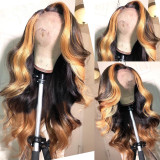 Ulovewigs Human Virgin Hair Pre Plucked Lace Front Wig For Black Woman Free Shipping(ULW0092)