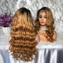 Ulovewigs Human Virgin Hair Pre Plucked Lace Front Wig For Black Woman Free Shipping(ULW0098)