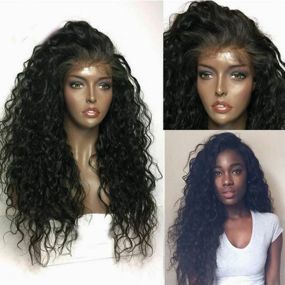 Ulovewigs Human Virgin Hair Pre Plucked Lace Front Wig For Black Woman Free Shipping(ULW0102)