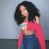 Ulovewigs Human Virgin Hair Pre Plucked Lace Front Wig  Free Shipping(ULW0104)