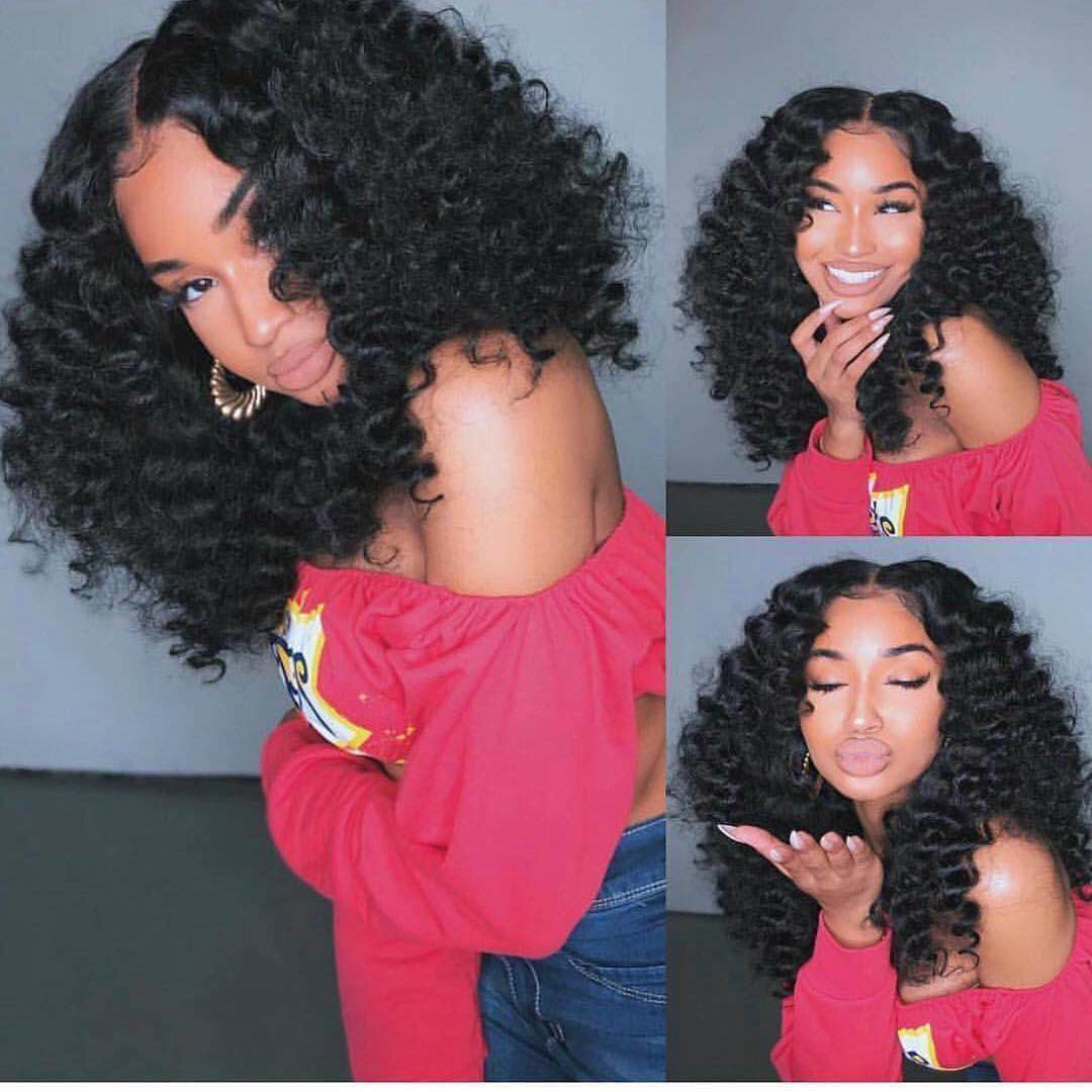 Ulovewigs Human Virgin Hair Pre Plucked Lace Front Wig For Black Woman Free Shipping(ULW0104)