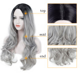 Ulovewigs Human Virgin Hair 1b/Gray Pre Plucked Lace Front Wig And Full Lace Wig For Black Woman Free Shipping (ULW0114)