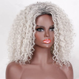 Ulovewigs Human Virgin Hair Gray Pre Plucked Lace Front Wig And Full Lace Wig For Black Woman Free Shipping (ULW0117)