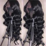 Ulovewigs Human Virgin Hair Wave Pre Plucked Lace Front Wig  Free Shipping (ULW0065)