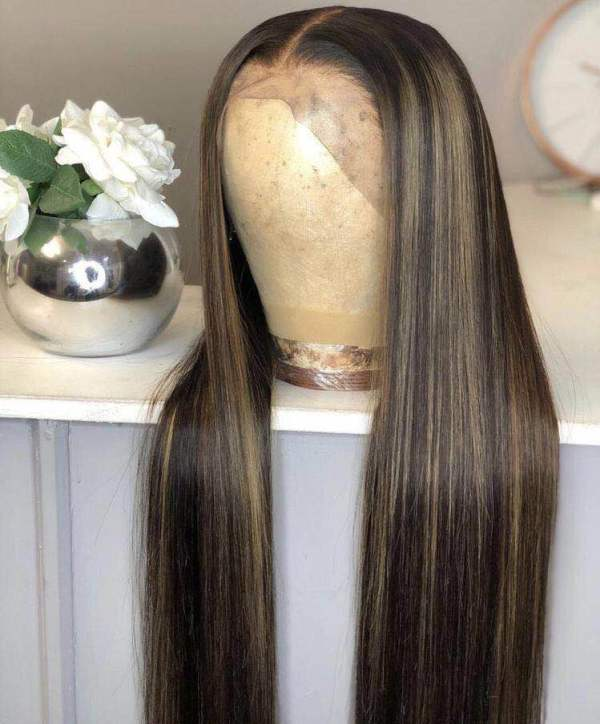 Ulovewigs Human Virgin Hair Goddess Style Pre Plucked Lace Front Wig Free Shipping(ULW0123)