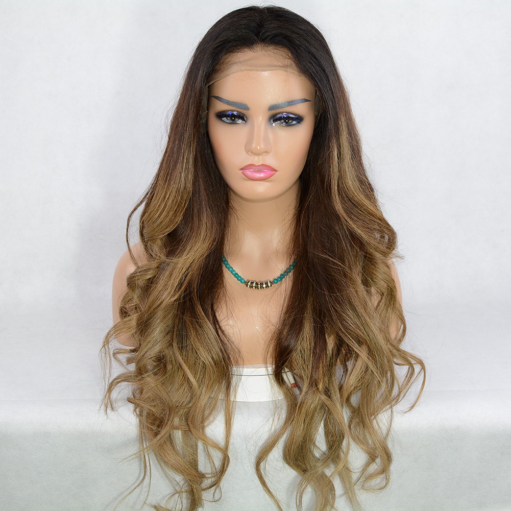 Ulovewigs Human Virgin Hair Goddess Style Pre Plucked Lace Front Wig For Black Woman Free Shipping(ULW0126)