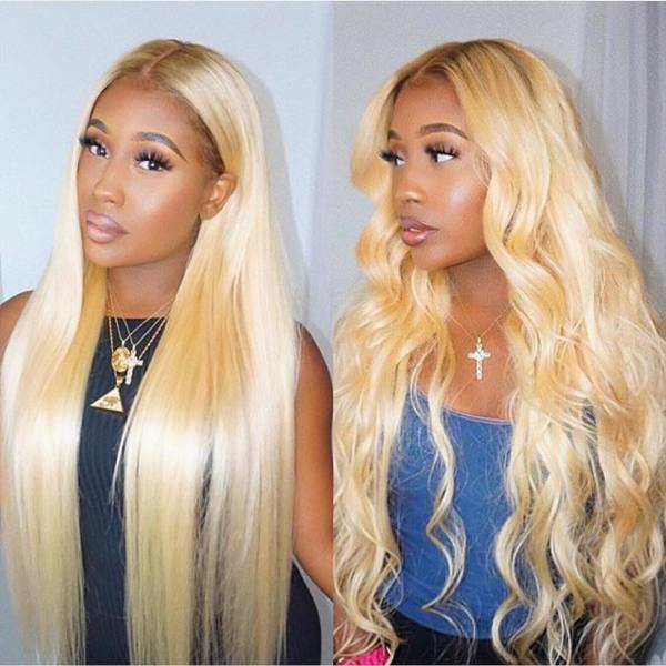 Ulovewigs Human Virgin Hair 4/613 Pre Plucked Lace Front Wig And Full Lace Wig  Free Shipping (ULW0135)